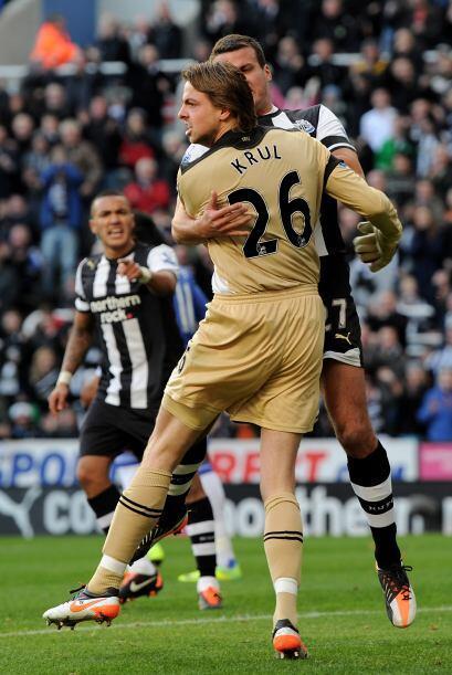 El Newcastle festejó la acción y buscaba dar el batacazo...pero no se pudo.