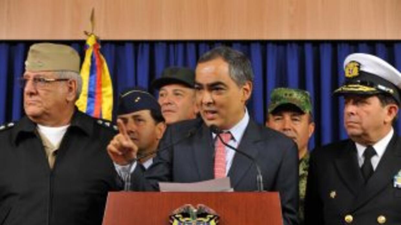 El ministro de Defensa colombiano, Rodrigo Rivera in formó que el gobier...