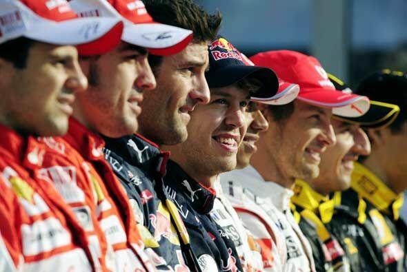 Todo eran sonrisas antes de la 19na. carrera del calendario de Fórmula 1...