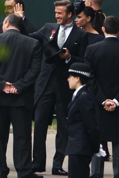 Beckham, con su habitual simpatía, saludaba a los presentes en la Abadía...