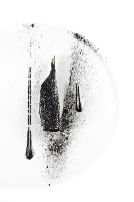 """Sardina quemada"", un plato de Osteria Francescana el restaurante de Mas..."