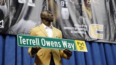 En fotos: Terrell Owens ausente de la inducción al Salón de la Fama de la NFL