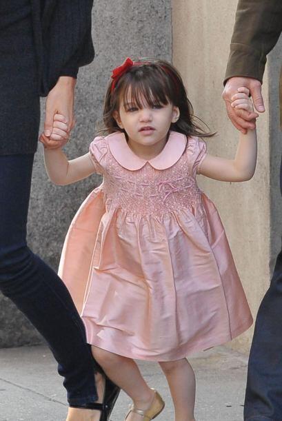 La pequeña marcó tendencia en moda para las niñas.