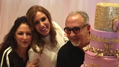Feliz cumpleaños Flaca: con un pastel de cumpleaños gigante, Lili Estefa...