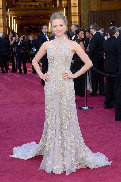 La elegancia la llevó a esos Oscar Amanda Seyfried, al momento de aposta...