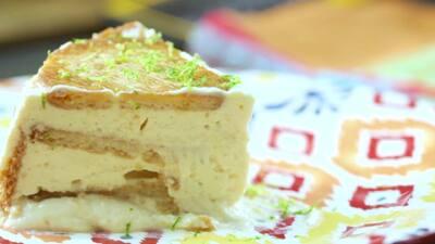Pastel frío con galletas María y queso crema