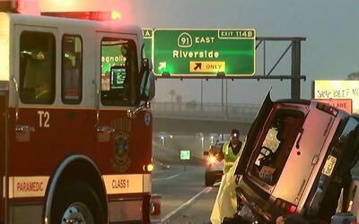 'Los Ángeles en un Minuto': investigan las causas de un accidente de trá...