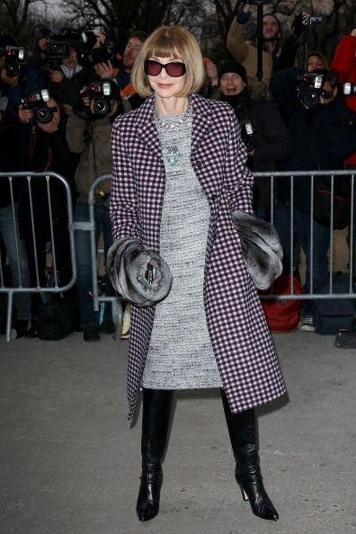 La jefa de la edición norteamericana de la revista Vogue, Anna Wintour n...