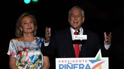 Sebastian Piñera celebra su triunfo en las elecciones presidenciales de...