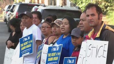Realizan protestas en Westlake por desalojo de tres inquilinos que se habían declarado en huelga