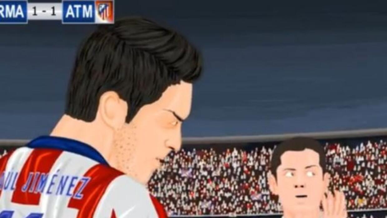 Chicharito y Jiménez aparecieron en el corto animado.