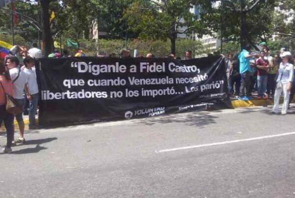 Manifestación en un parque de Altamira, Caracas. La fotografía fue publi...