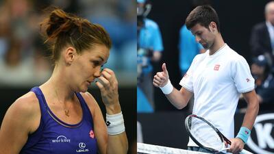 Sorpresiva y temprana eliminación de Djokovic y Radwanska en el Australian Open