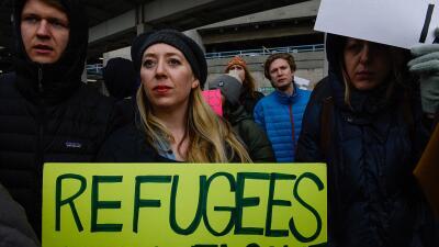 Cuando Trump anunció la suspensión del programa de refugiados y el veto...
