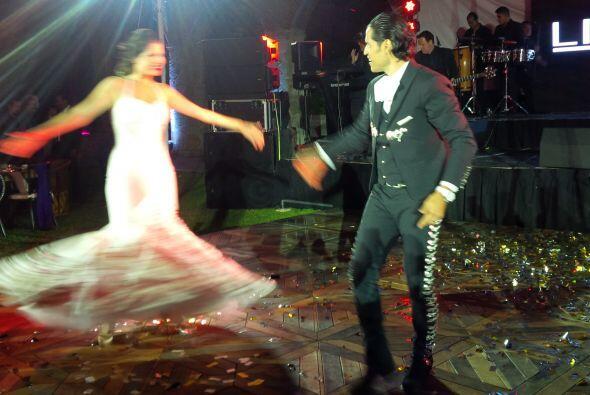 Aunque la foto no es la mejor, se nota cómo lució el vestido de Ana Patr...