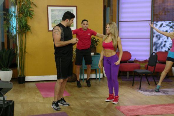 Claudia Molina le enseñó a Paul los 4 pasos para tonificar el cuerpo sin...