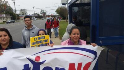 Caminata de inmigrantes hasta Raleigh, Carolina del Norte