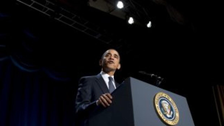 Obama habló con periodistas en la Casa Blanca. ¿El tema? Egipto.