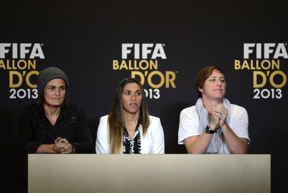 Nadine Angerer, Marta Vieira y Abby Wambach, las candidatas al premio co...