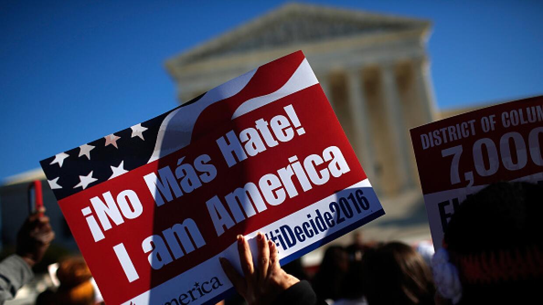 Manifestación por DACA/DAPA frente a Corte Suprema en Washington