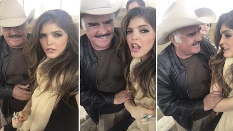 Ana Bárbara y Vicente Fernandez, juntos cantando 'Que te vaya bonito'