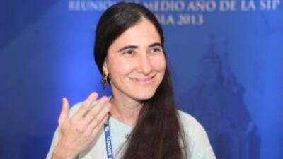 La disidente cubanaYoani Sánchez.