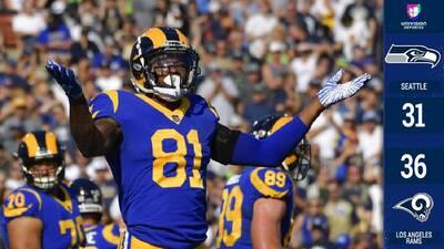 La defensa de los Rams se crece al final y evita perder con los amenazantes Seahawks