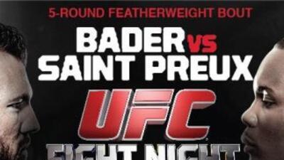 Bader vs. Saint Preux (Foto: Twitter).