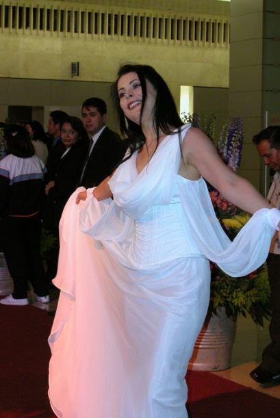 A Lourdes Mungía la llaman La Gritona, pero no sé porqué, ¿será leyenda...