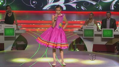 Irlanda Valenzuela cantó la canción 'La cigarra' en Pequeños Gigantes 2