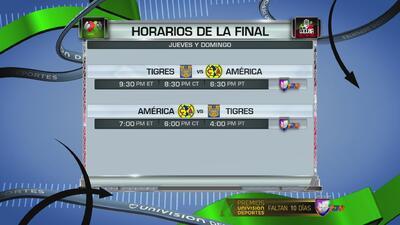 Definieron fechas y horarios de la Gran Final entre América y Tigres