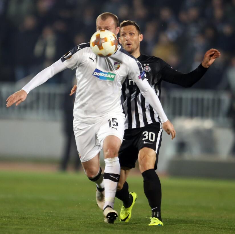 Partizan 1-1 Viktoria Plzen: hubo empate en este, uno de los partidos me...