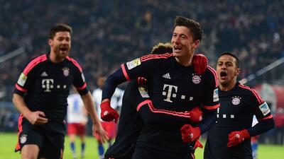 Lewandowski marcó otro doblete en la Bundesliga