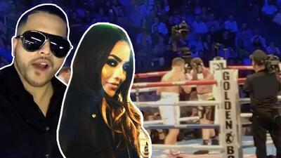Otra vez juntos: Mayeli Alonso y su supuesto novio son vistos en la pelea del 'Canelo'