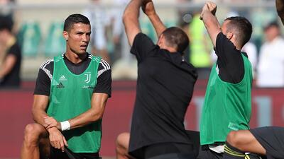 Modesto primer tiempo de Cristiano Ronaldo en el empate parcial ante el Chievo