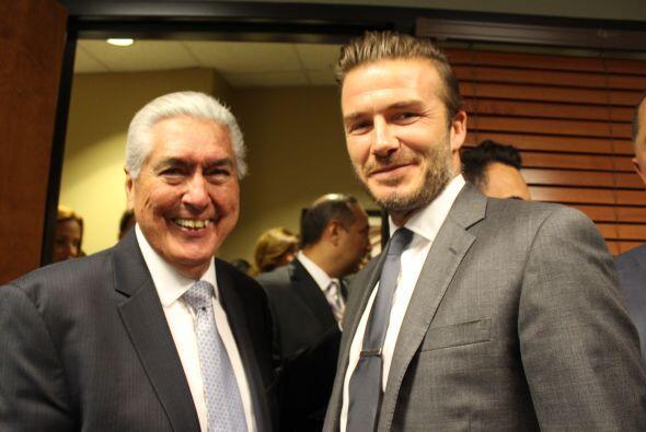 Beckham y Pedrito Milián, publicista.