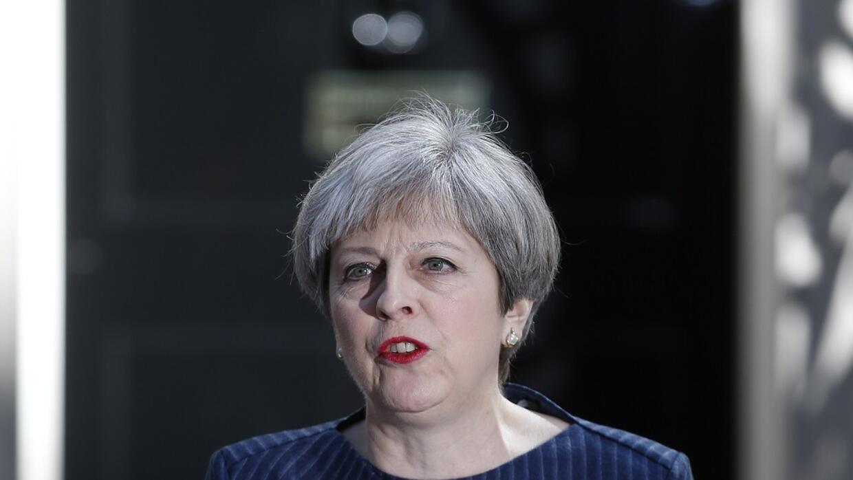 Theresa May, primera ministra británica, anuncia el adelanto electoral f...