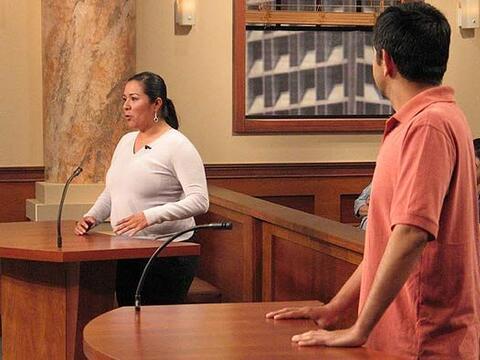 Miriam dice que ya no es posible compartir la cama con su esposo.