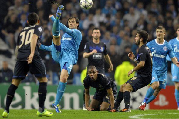 Porto luchó pero no pudo ante el Zenit que se despidió de la Champions