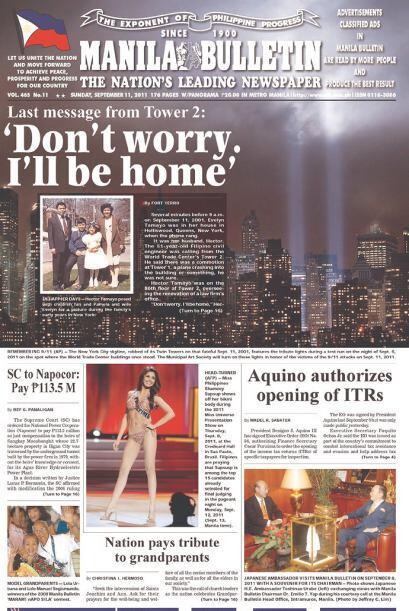 Cortesía de Manila Bulletin, de Manila, Filipinas, vía Newseum.