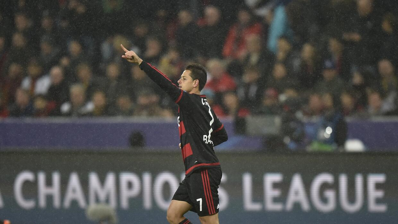 Javier Hernández aparece en el once ideal de la Champions