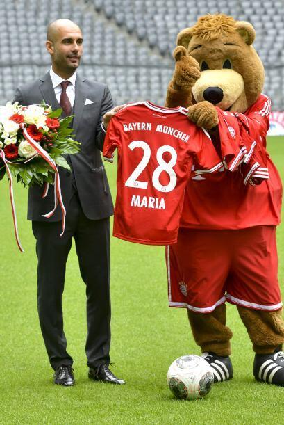 Hubo playeras del Bayern hasta para María, una de las hijas del técnico.