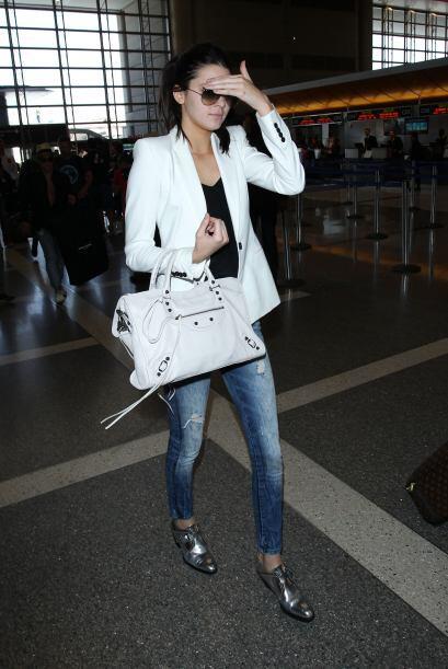 Kendall mantiene, sin duda, todo su estilo aún cuando se trata de viajar...