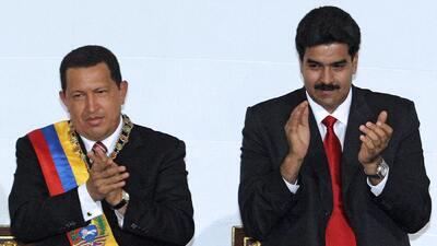 El presidente de la República Bolivariana de Venezuela, Hugo Chávez, jun...