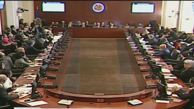 En declaración por mayoría, la OEA señala que en Venezuela existe una gr...