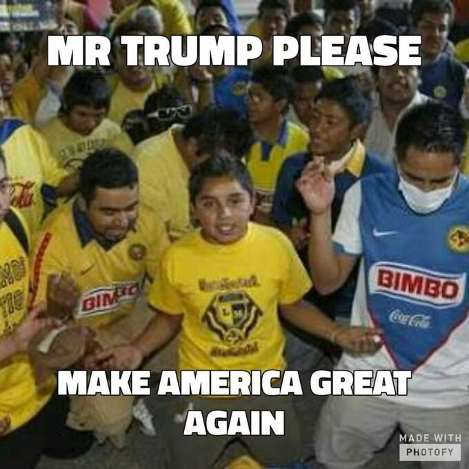 Memes se burlan de Trump y el América, comparan al mandatario con equipo...