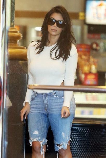 Kim y Kanye salieron a comer el fin de semana.
