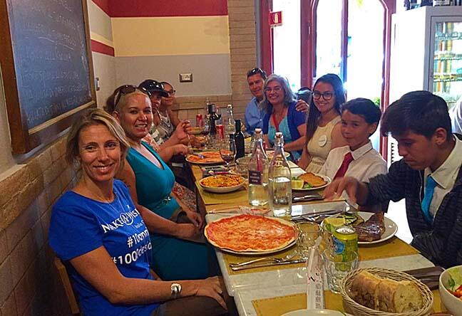 Jazmin disfrutando Italia con su familia