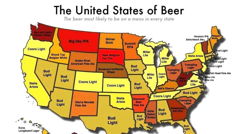 Mapa de la cerveza que más predomina por estado.
