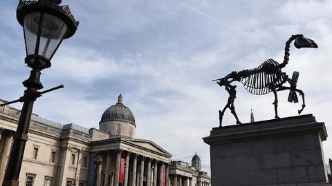 El llamado 'Cuarto Pedestal' de Trafalgar Square se ha transformado en u...